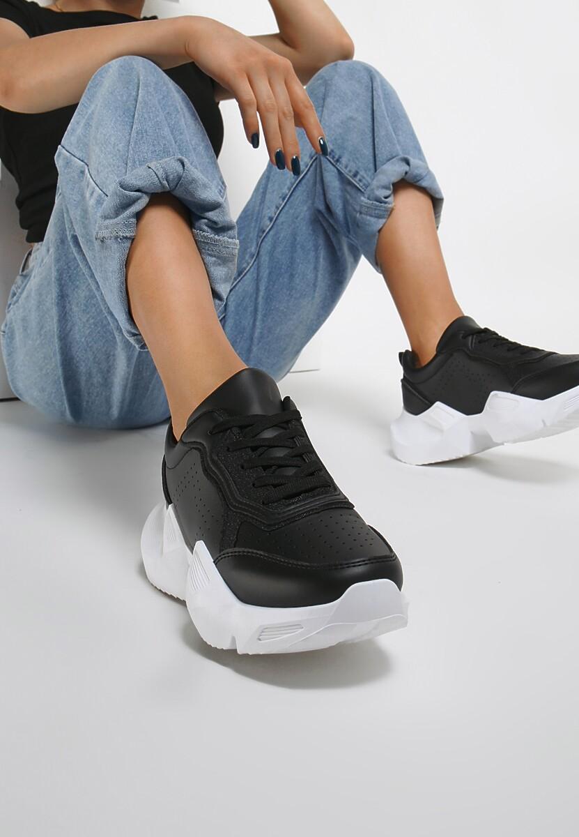 Czarne Sneakersy Hitiax