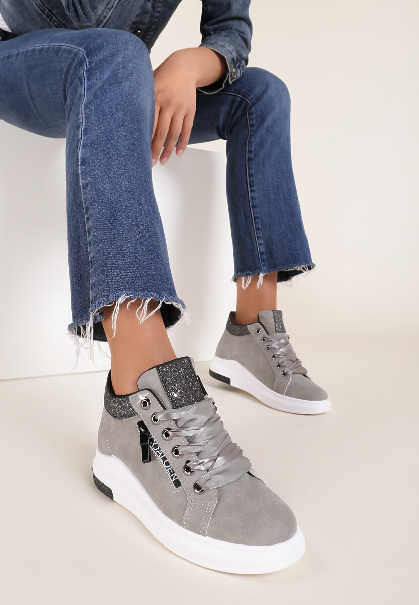 Szare Sneakersy Alina
