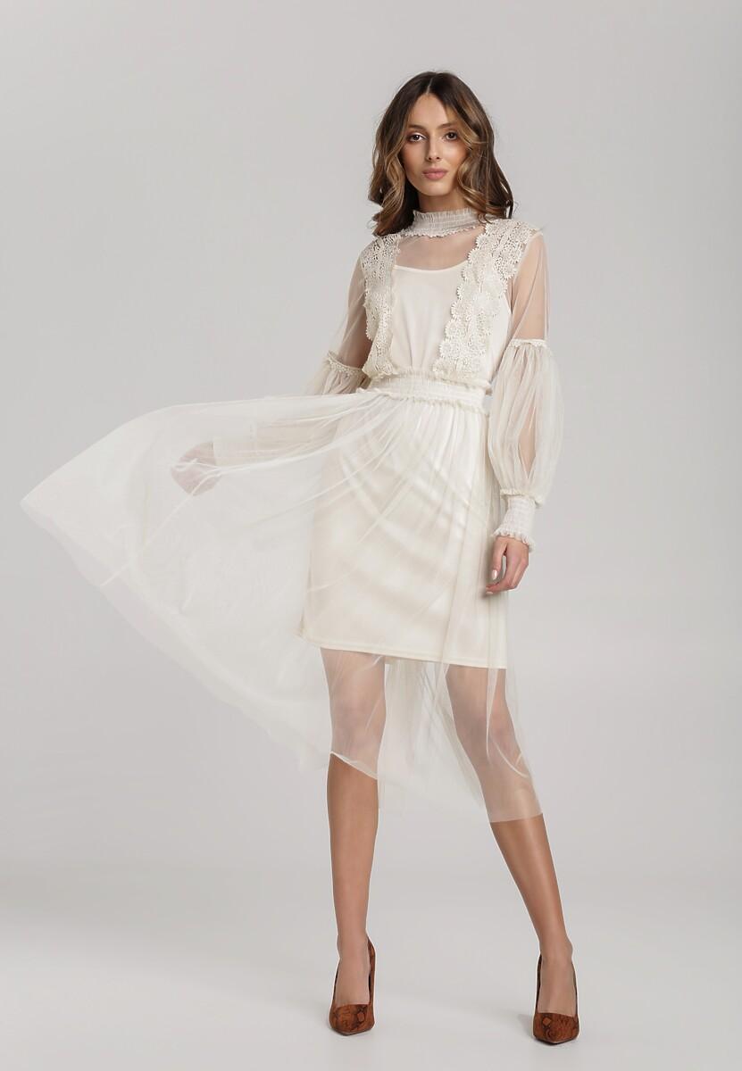 Jasnobeżowa Sukienka Rhetila