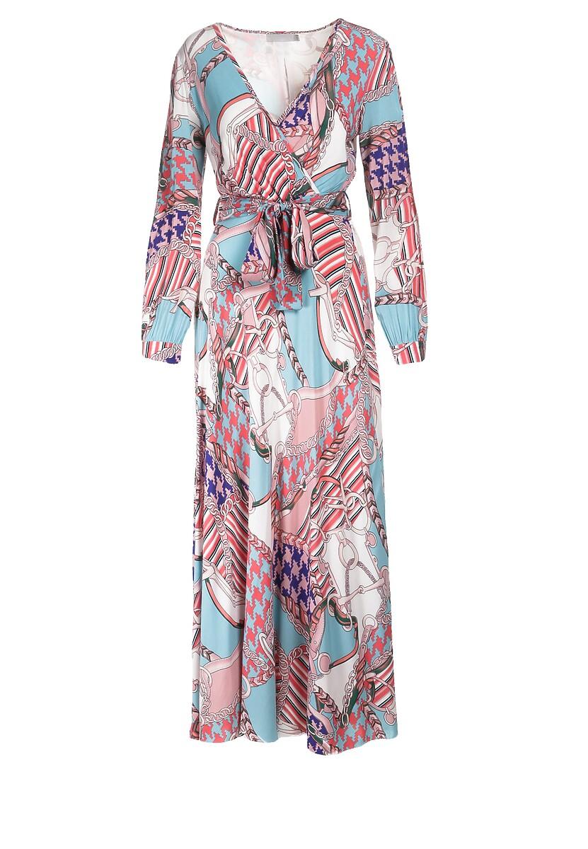 Niebiesko-Różowa Sukienka Naurah