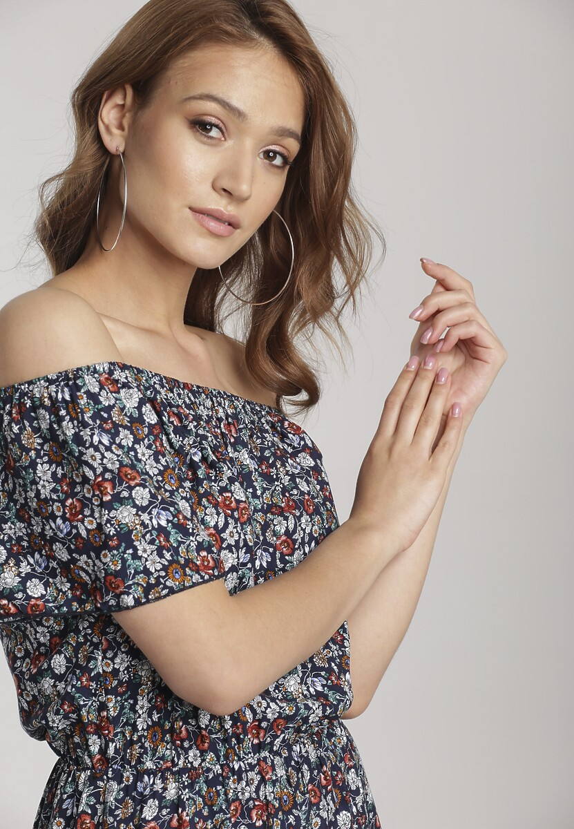 Granatowa Sukienka Laraime