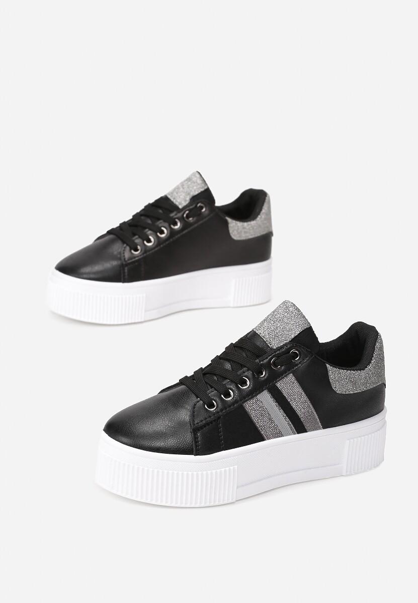 Czarne Sneakersy Elashor