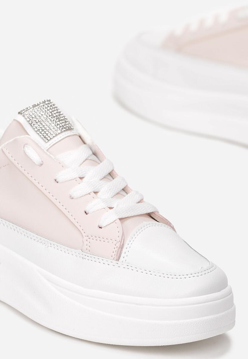 Jasnoróżowe Sneakersy Kahley