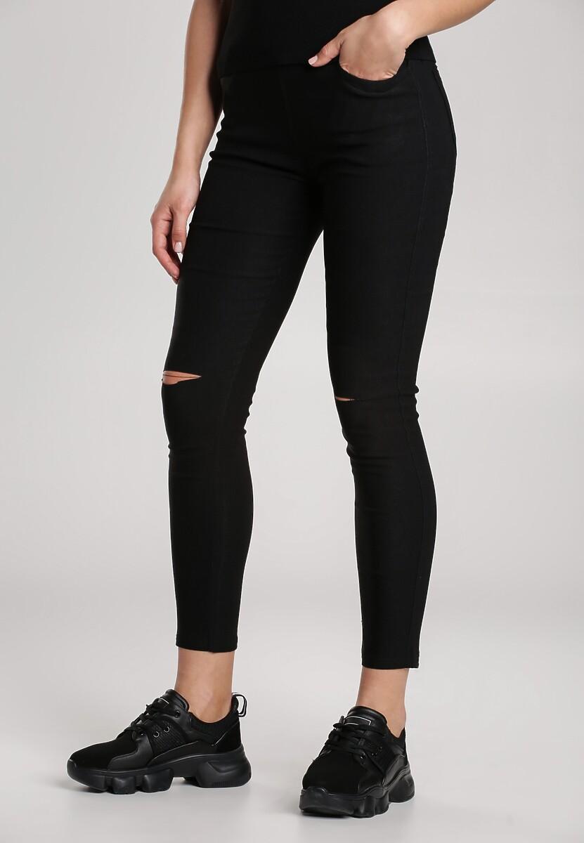 Czarne Spodnie Jegginsy Vinehelm