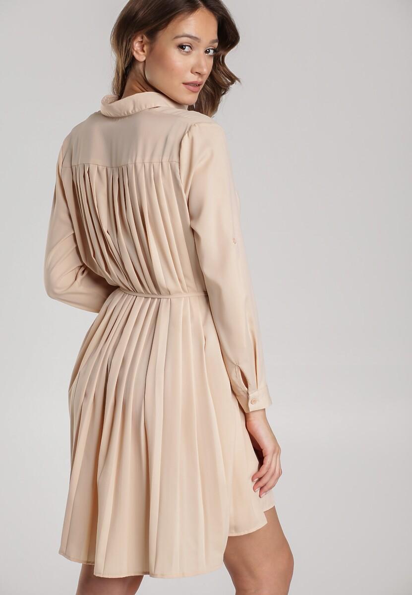 Jasnobeżowa Sukienka Newfalls
