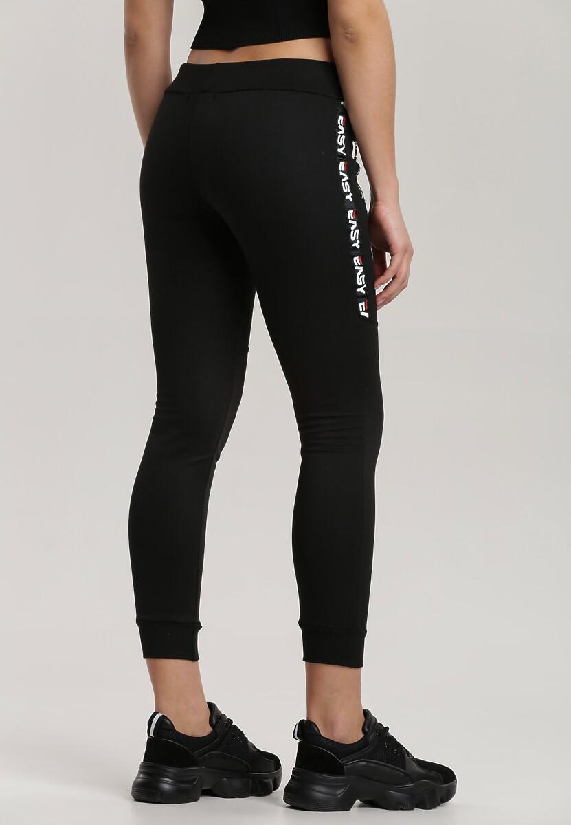 Czarne Spodnie Dresowe Metilenia