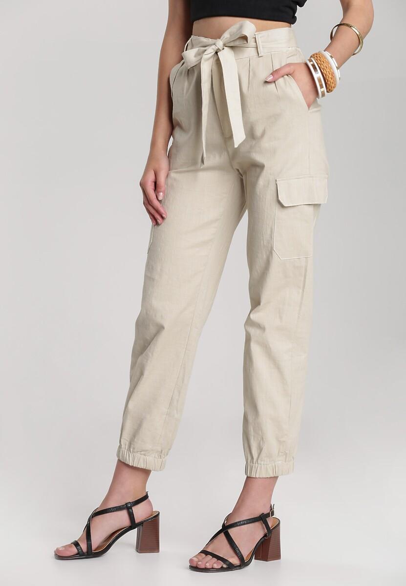 Kremowe Spodnie Maipise
