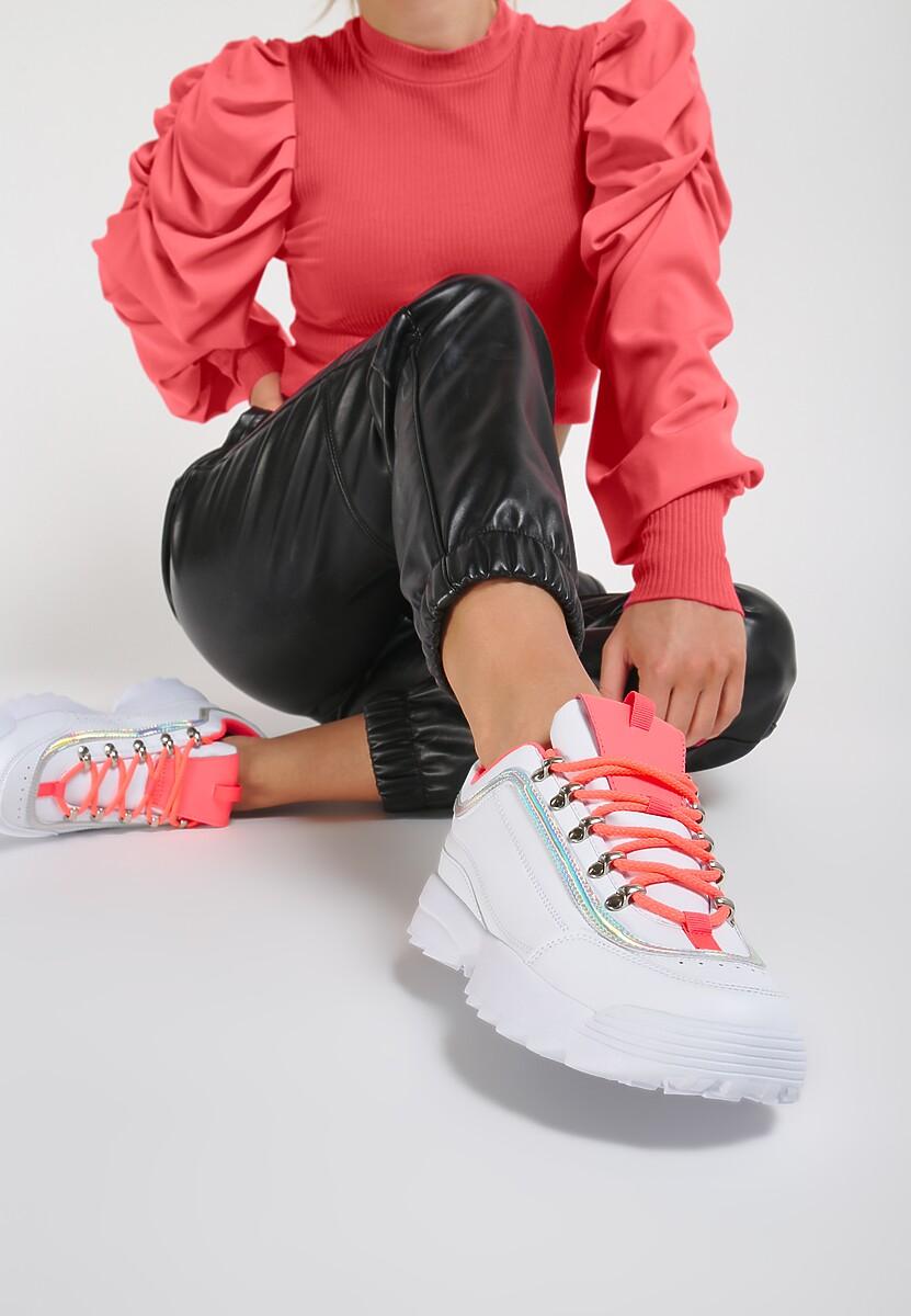 Biało-Fuksjowe Sneakersy Ryland