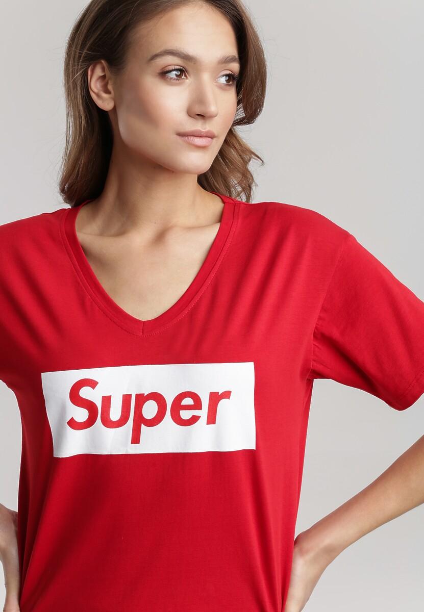 Czerwony T-shirt Taphis