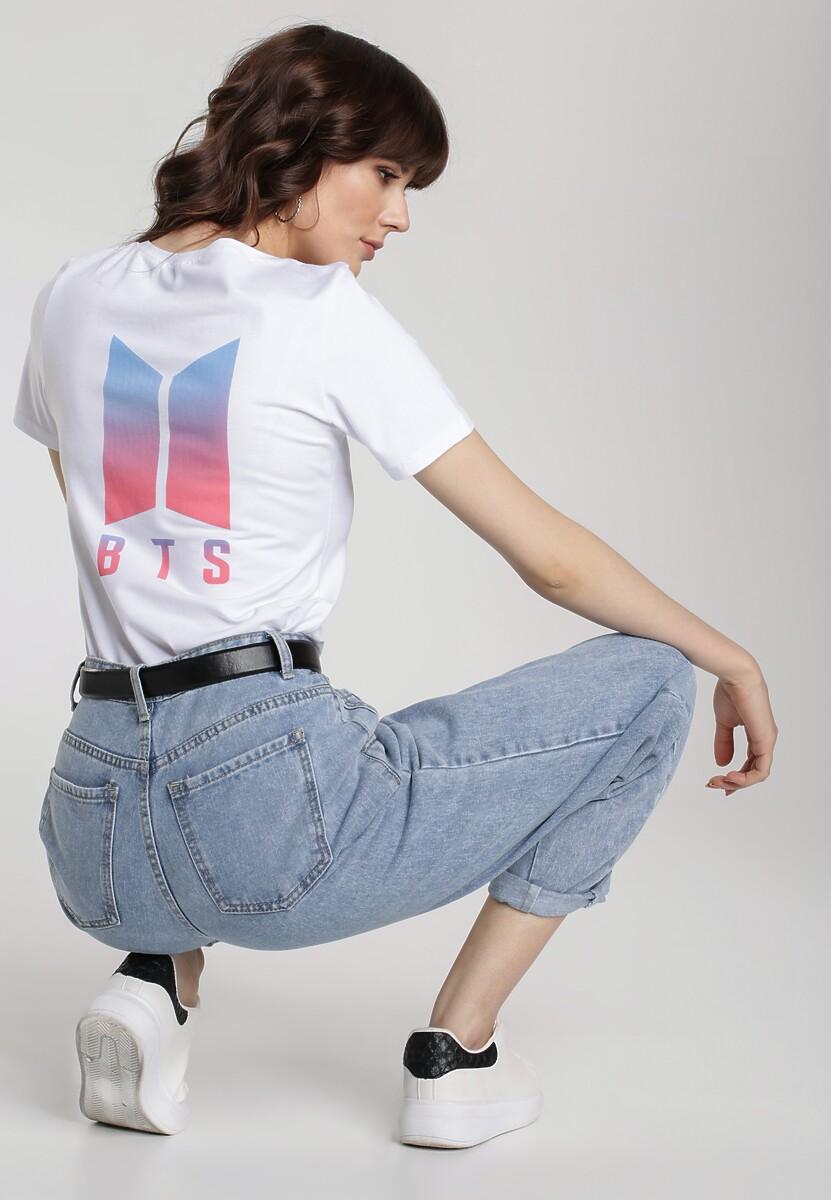 Biały T-shirt Aroaxera