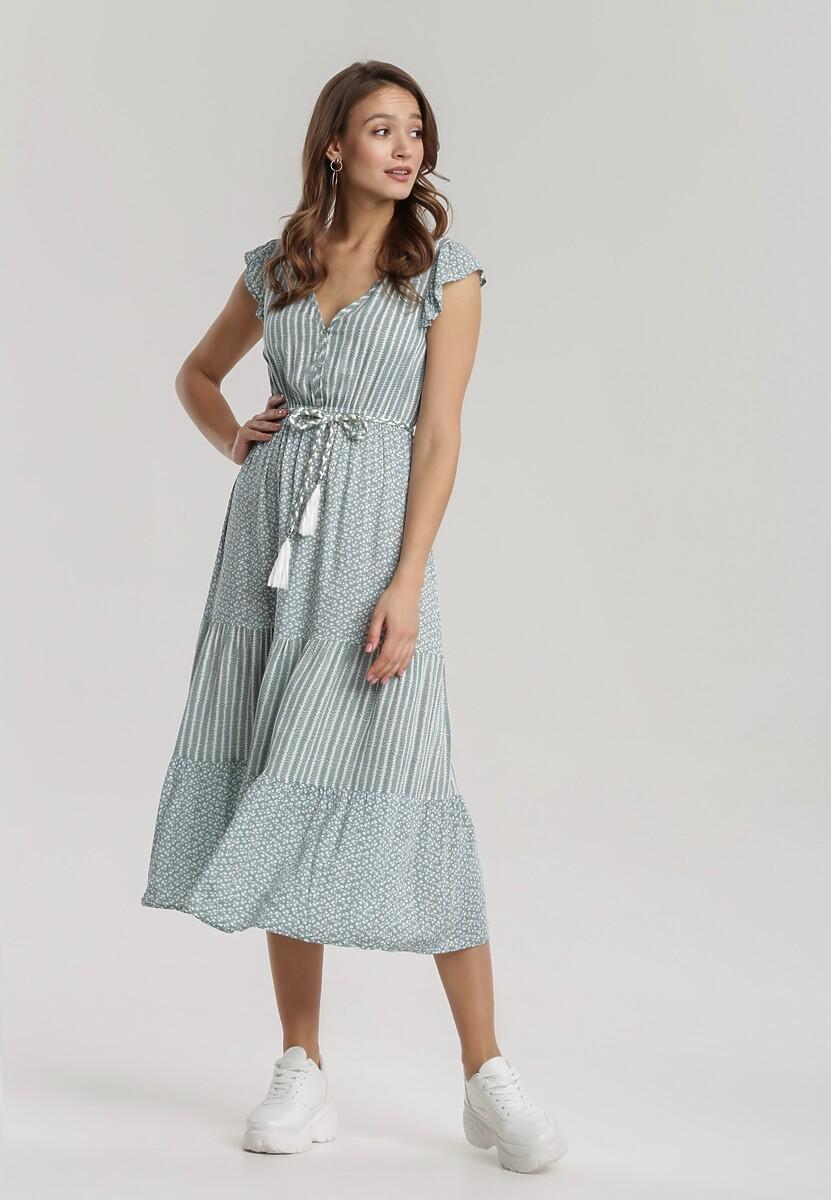 Miętowa Sukienka Adrenia