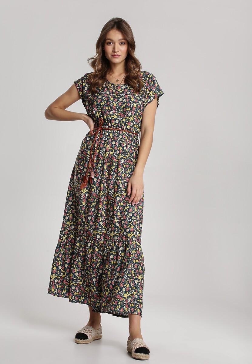 Granatowa Sukienka Nahgune