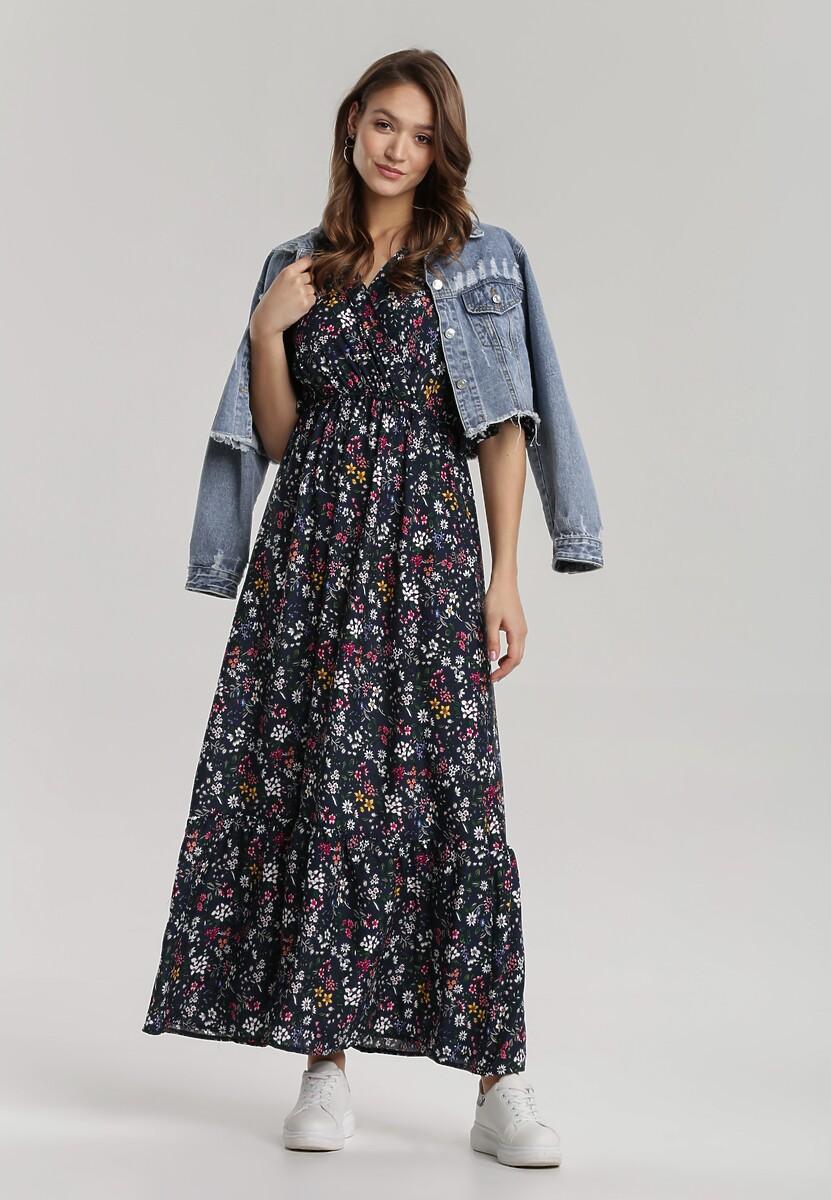 Granatowa Sukienka Hirane
