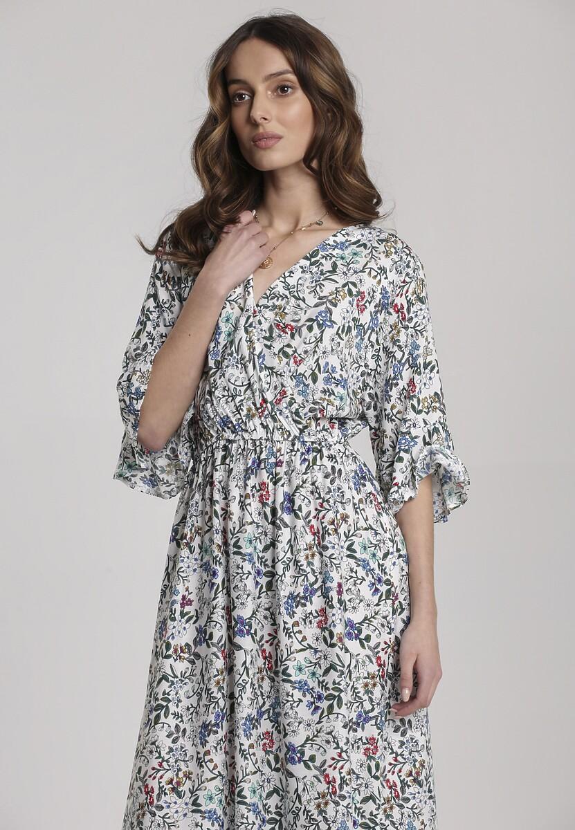 Biała Sukienka Hirane