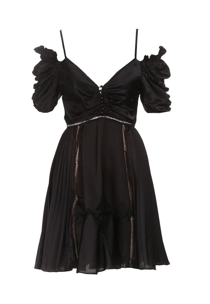 Czarna Sukienka Silkport