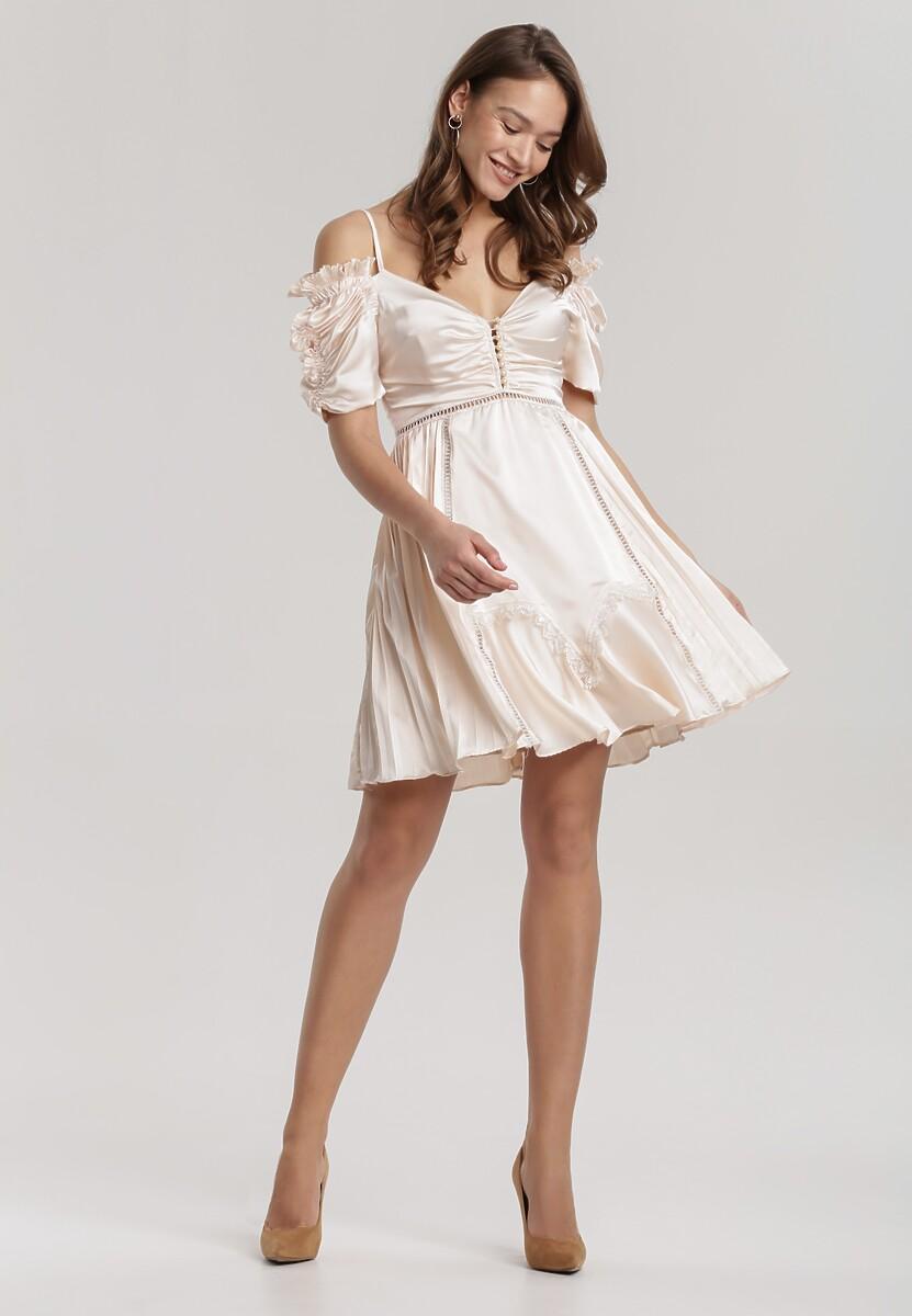 Jasnobeżowa Sukienka Silkport