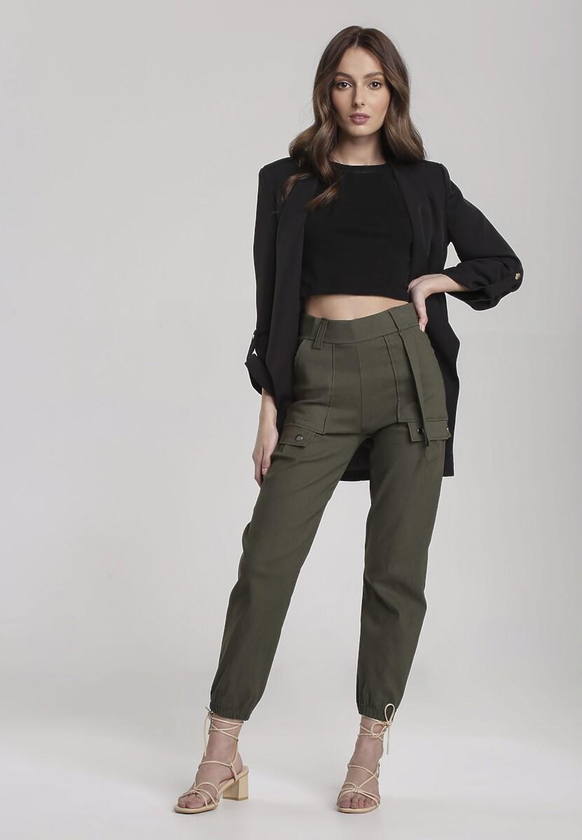 Ciemnozielone Spodnie Susana