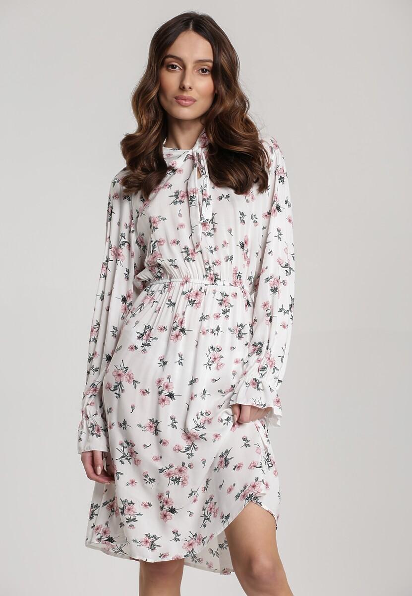 Biała Sukienka Roan
