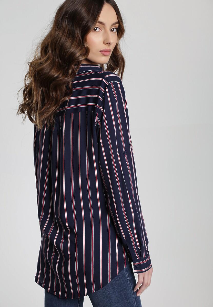 Granatowa Koszula Plummere