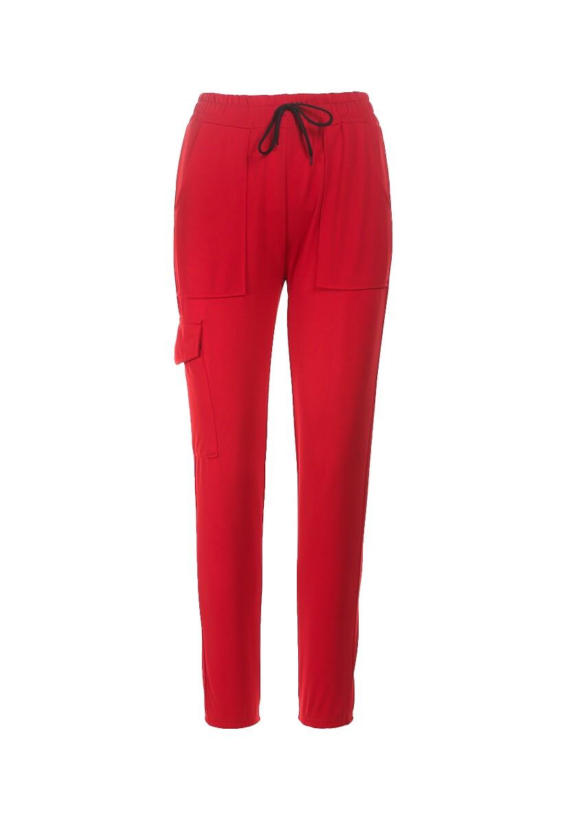 Czerwone Spodnie Dresowe Guinemara