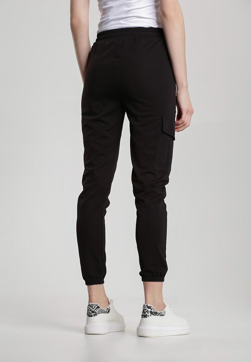 Czarne Spodnie Dresowe Guinemara