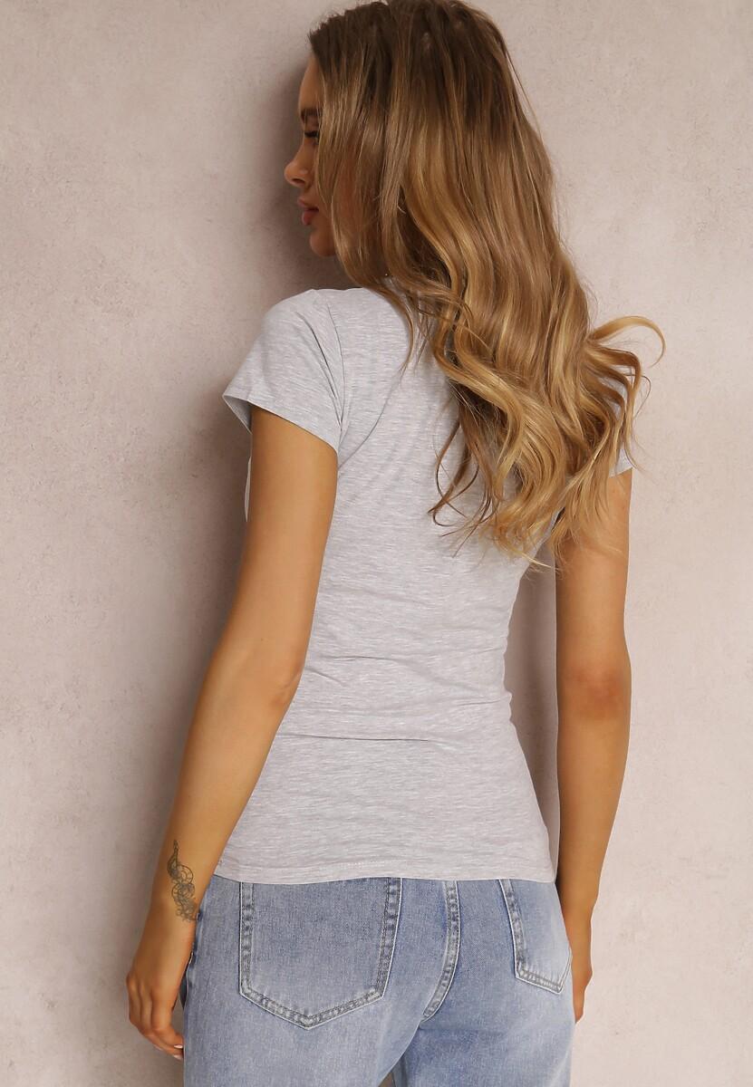 Jasnoszary T-shirt Mirasura