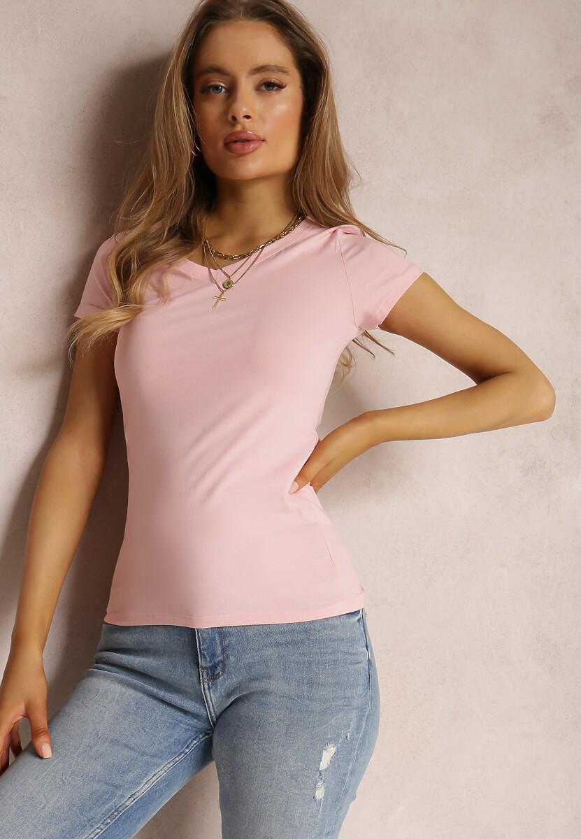 Jasnoróżowy T-shirt Mirasura