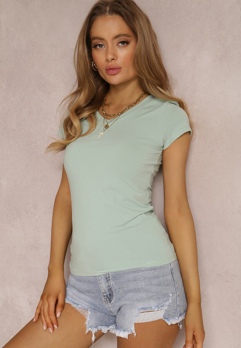 Miętowy T-shirt Mirasura