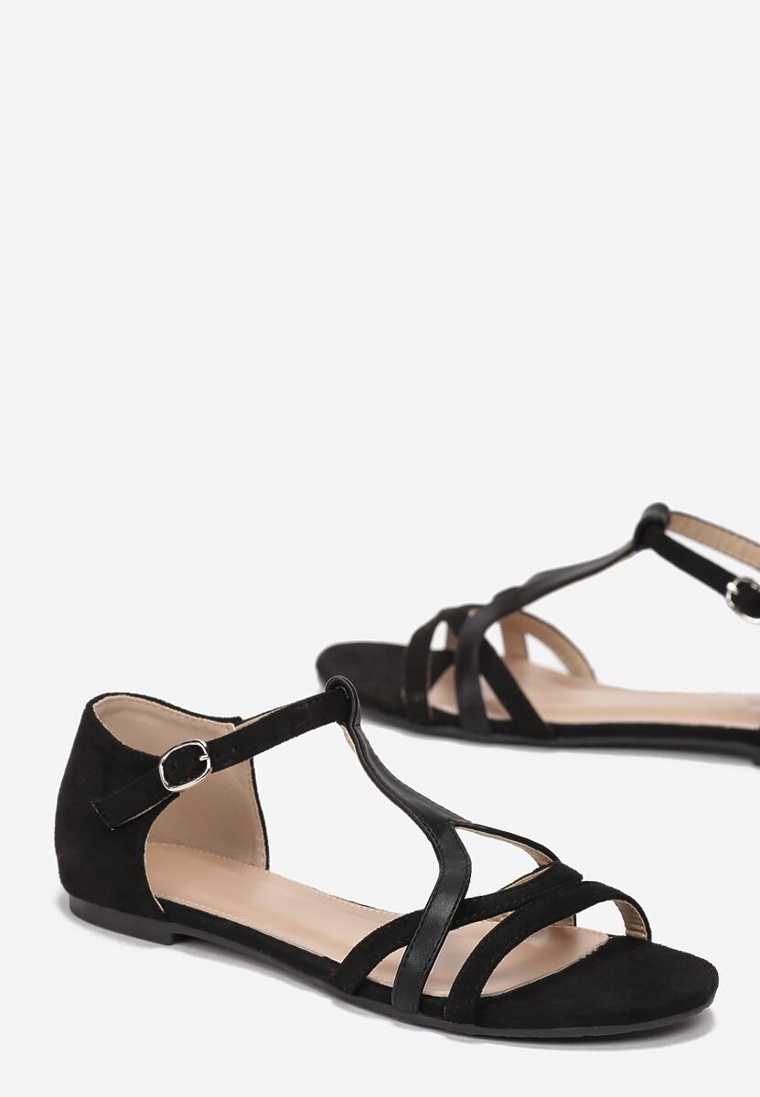 Czarne Sandały Saphalina