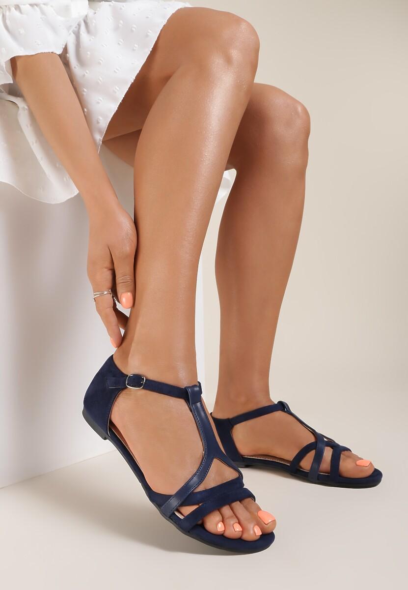 Granatowe Sandały Saphalina