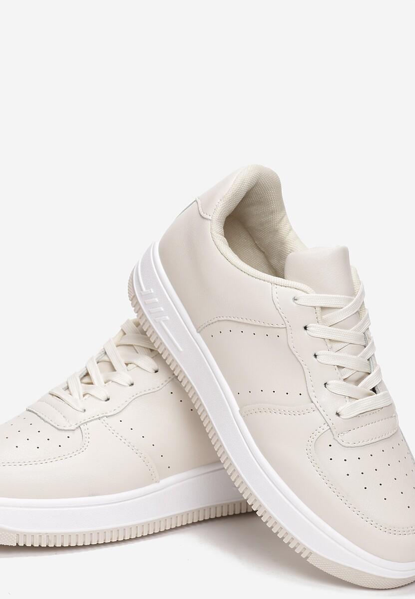 Beżowe Sneakersy Coralin