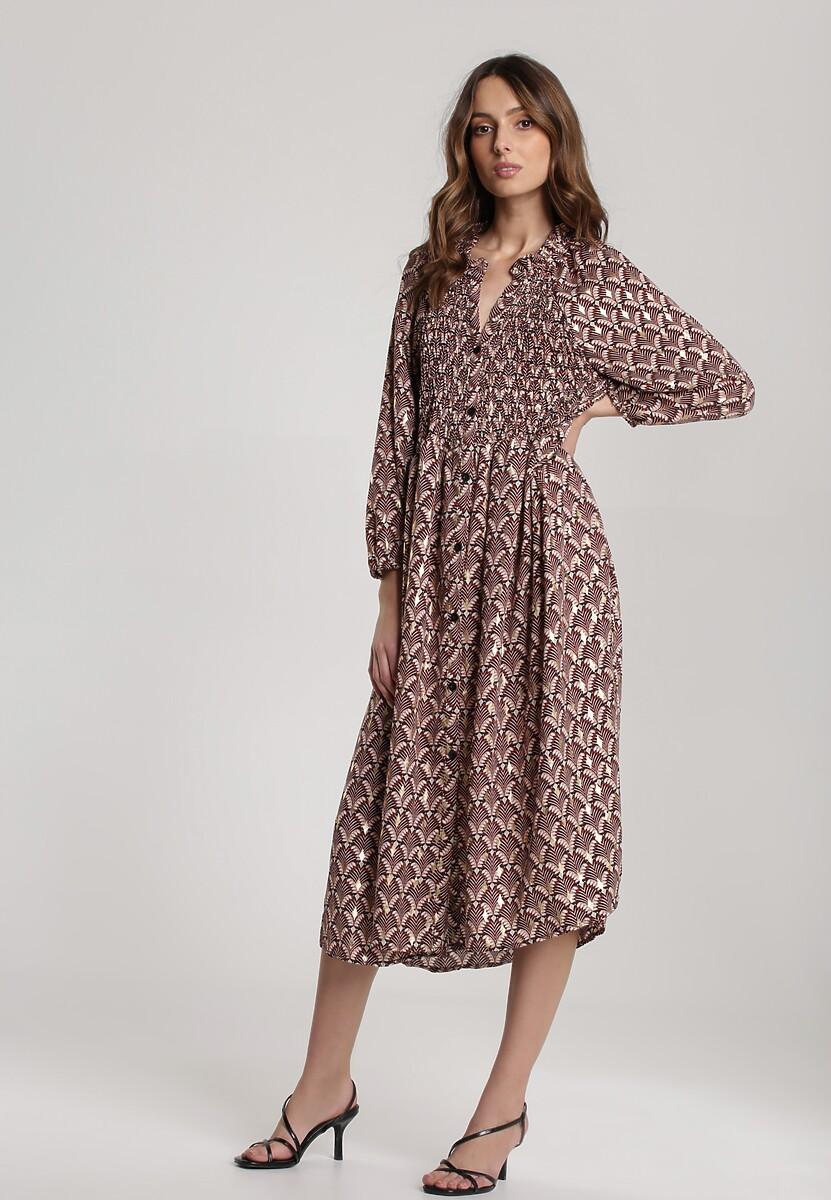 Brązowa Sukienka Hailophi