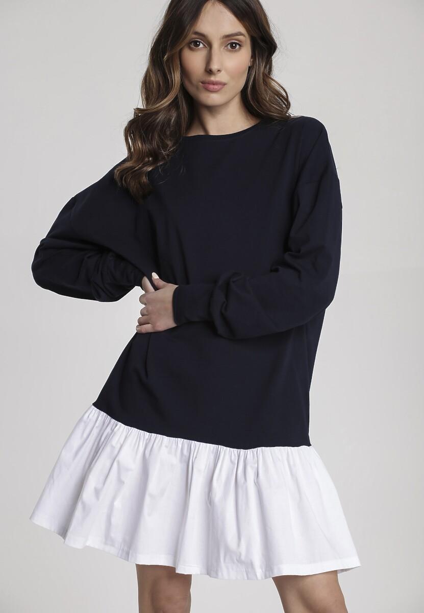 Granatowa Sukienka Genisura Kod produktu: 115397