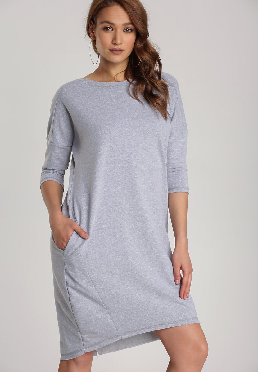 Szara Sukienka Alcirope