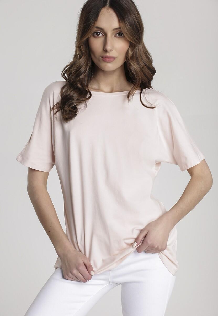 Jasnoróżowy T-shirt Sabrimisia