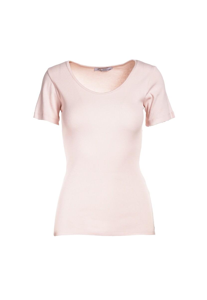 Jasnoróżowy T-shirt Nahlle