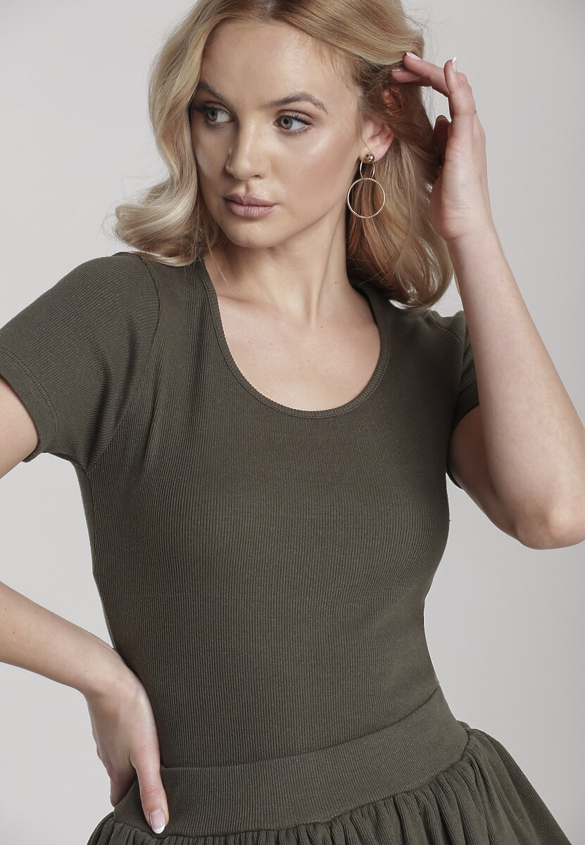 Ciemnozielony T-shirt Nahlle Kod produktu: 115391