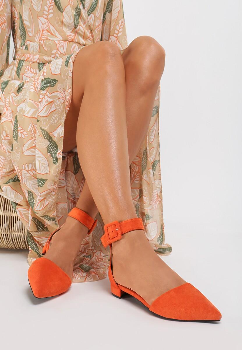 Pomarańczowe Czółenka Viviala