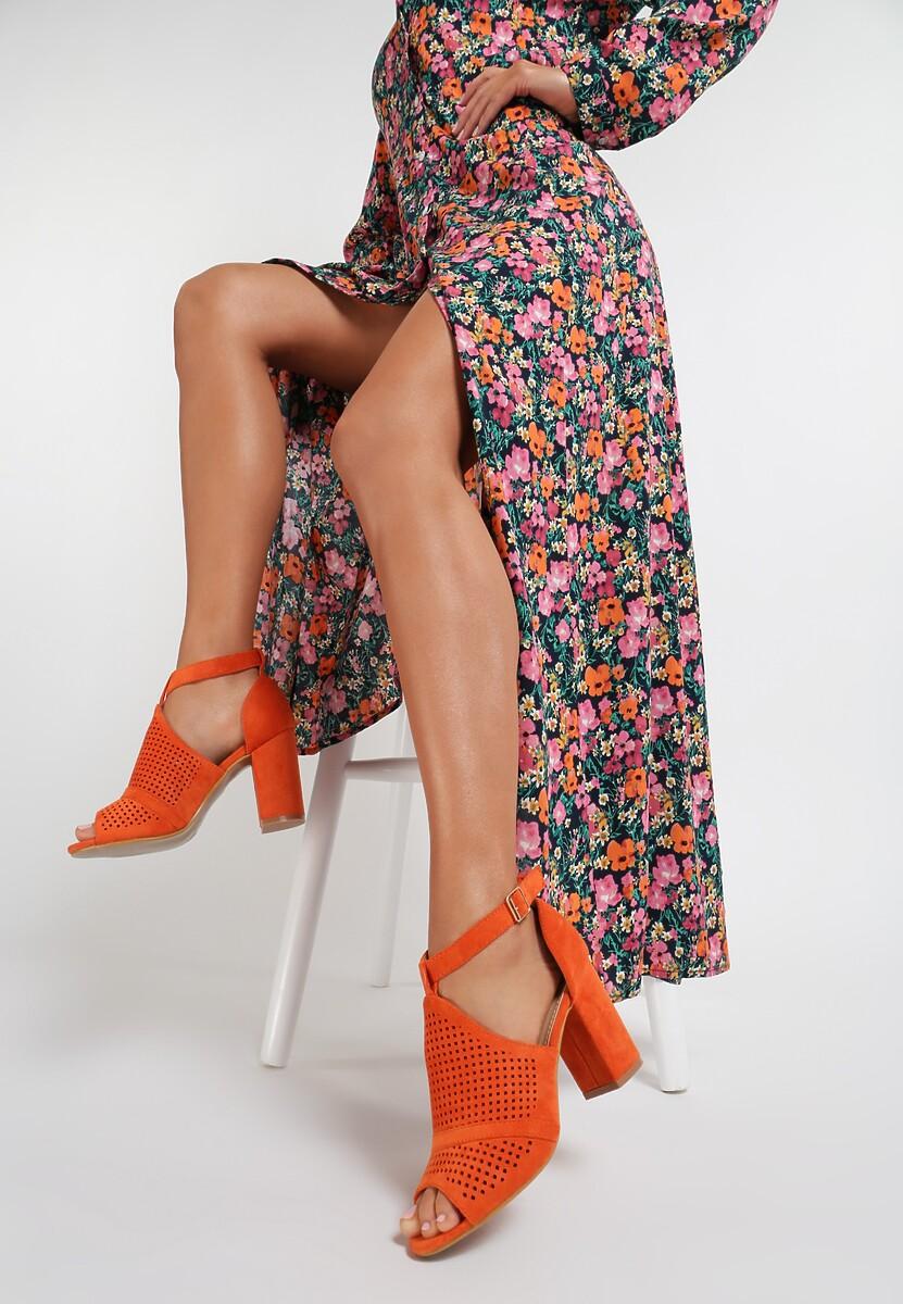 Pomarańczowe Sandały Orlalise Kod produktu: 115600