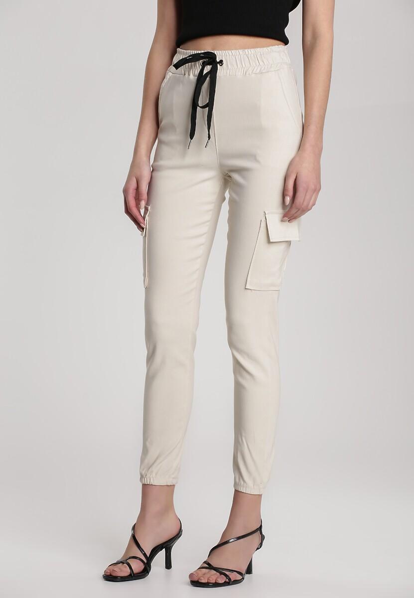Kremowe Spodnie Narissa