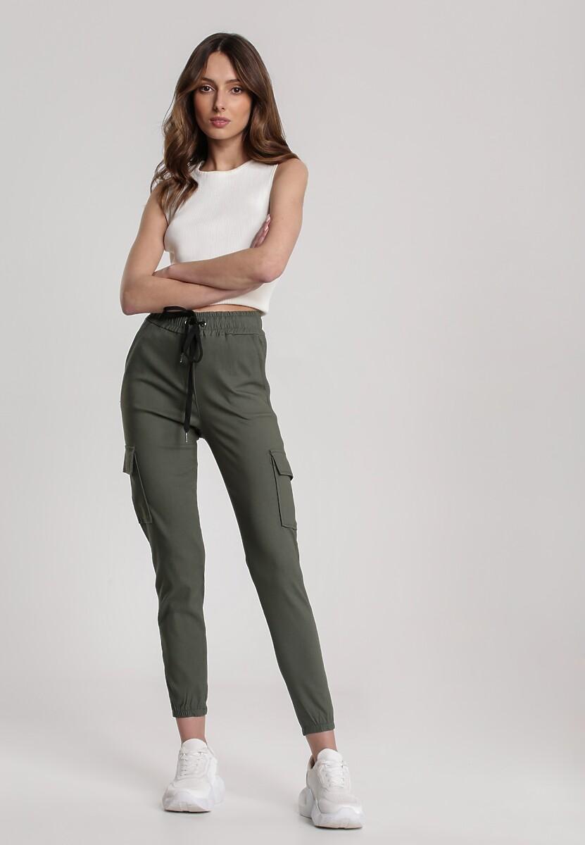 Ciemnozielone Spodnie Narissa