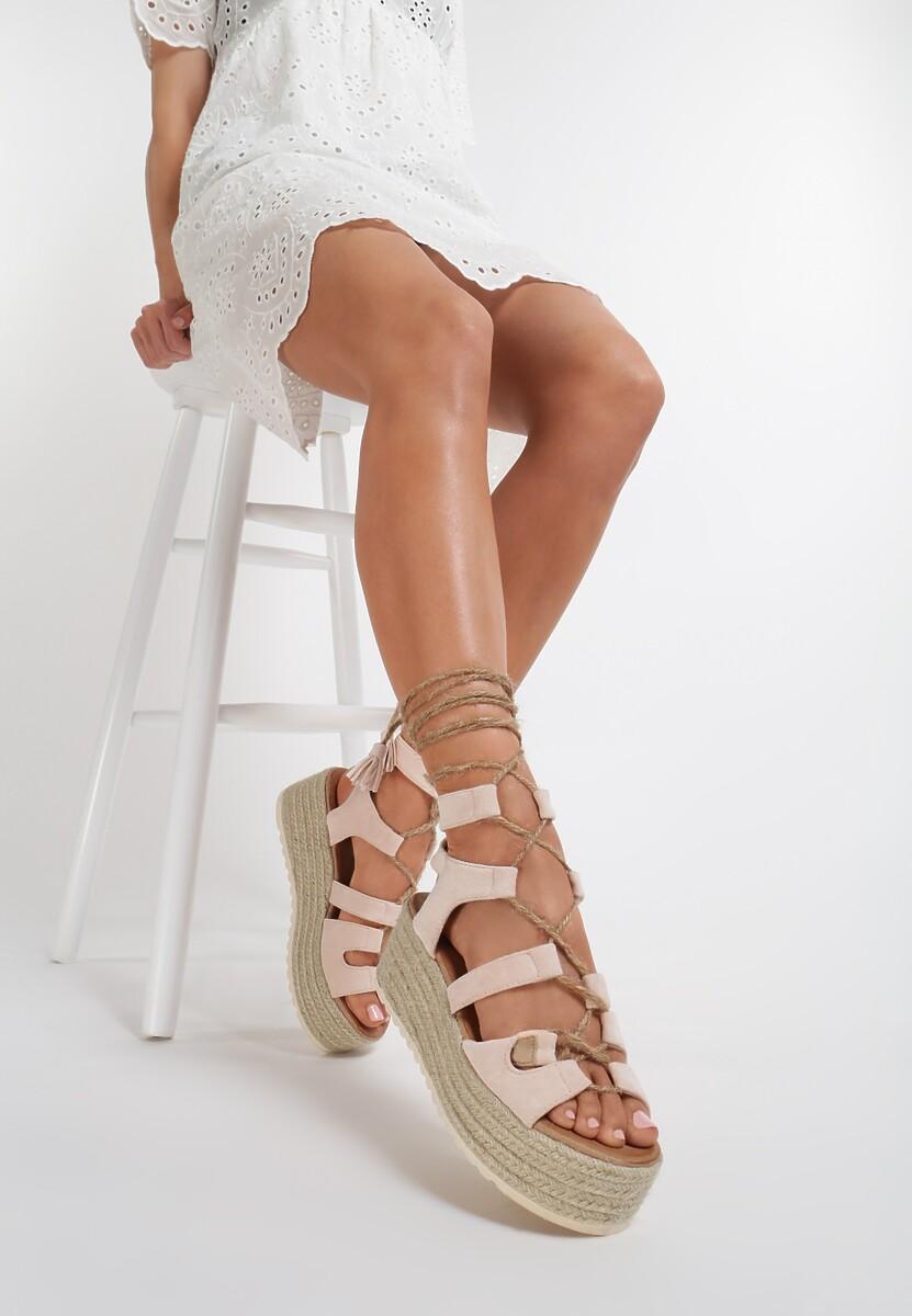 Beżowe Sandały Pisimia