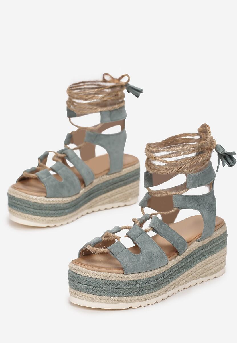 Miętowe Sandały Pisimia
