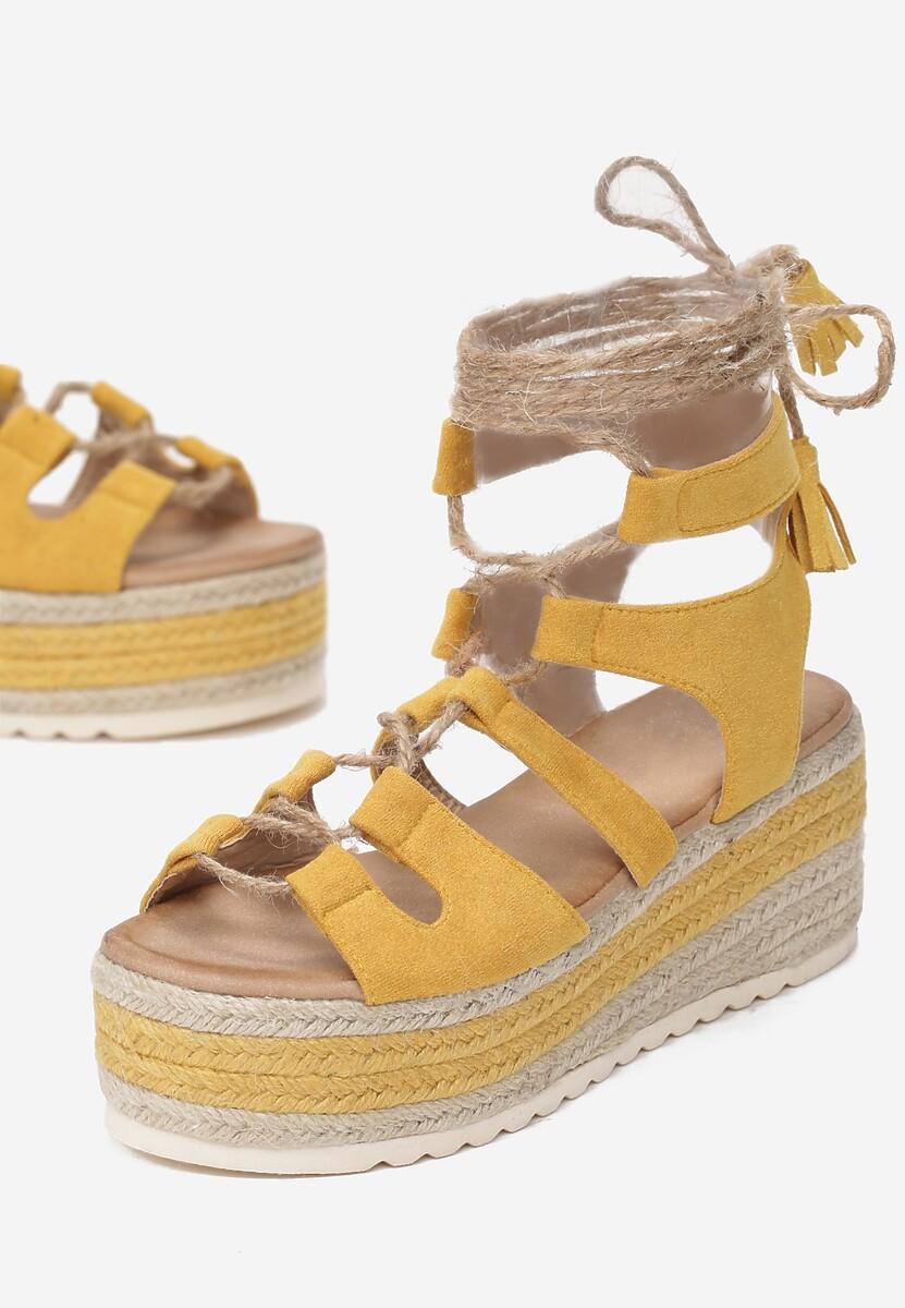 Żółte Sandały Pisimia