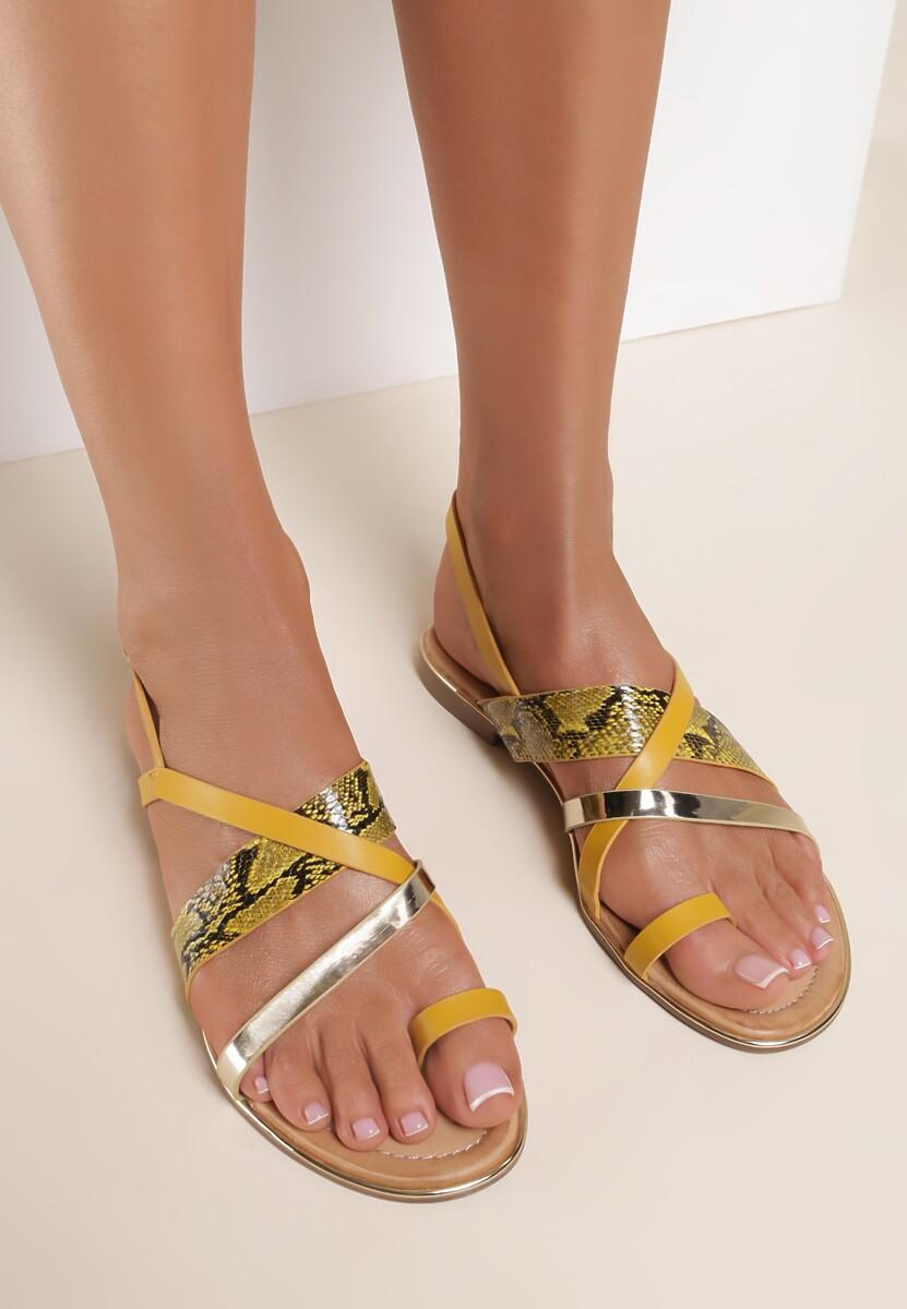 Żółte Sandały Marimere