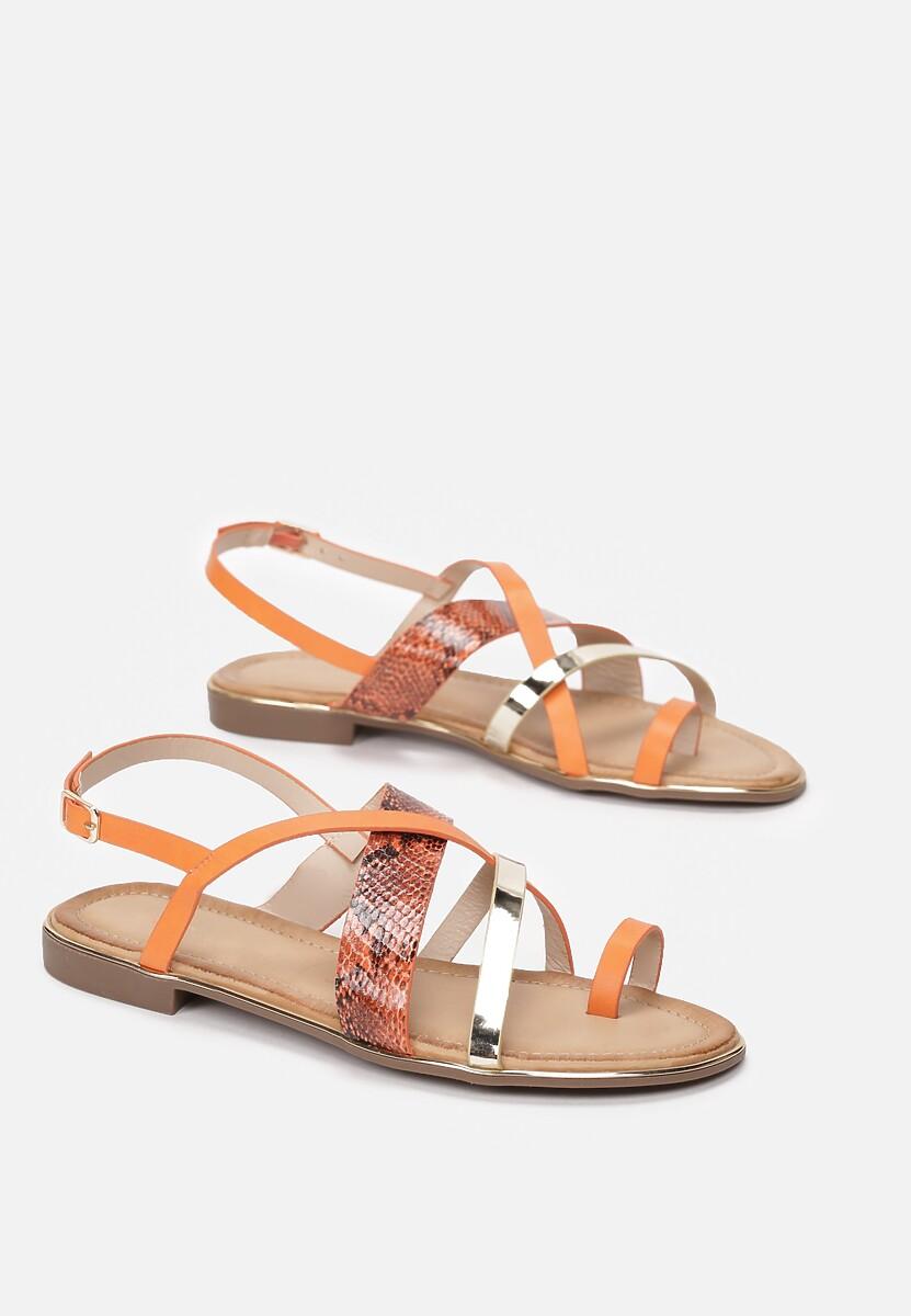 Pomarańczowe Sandały Marimere