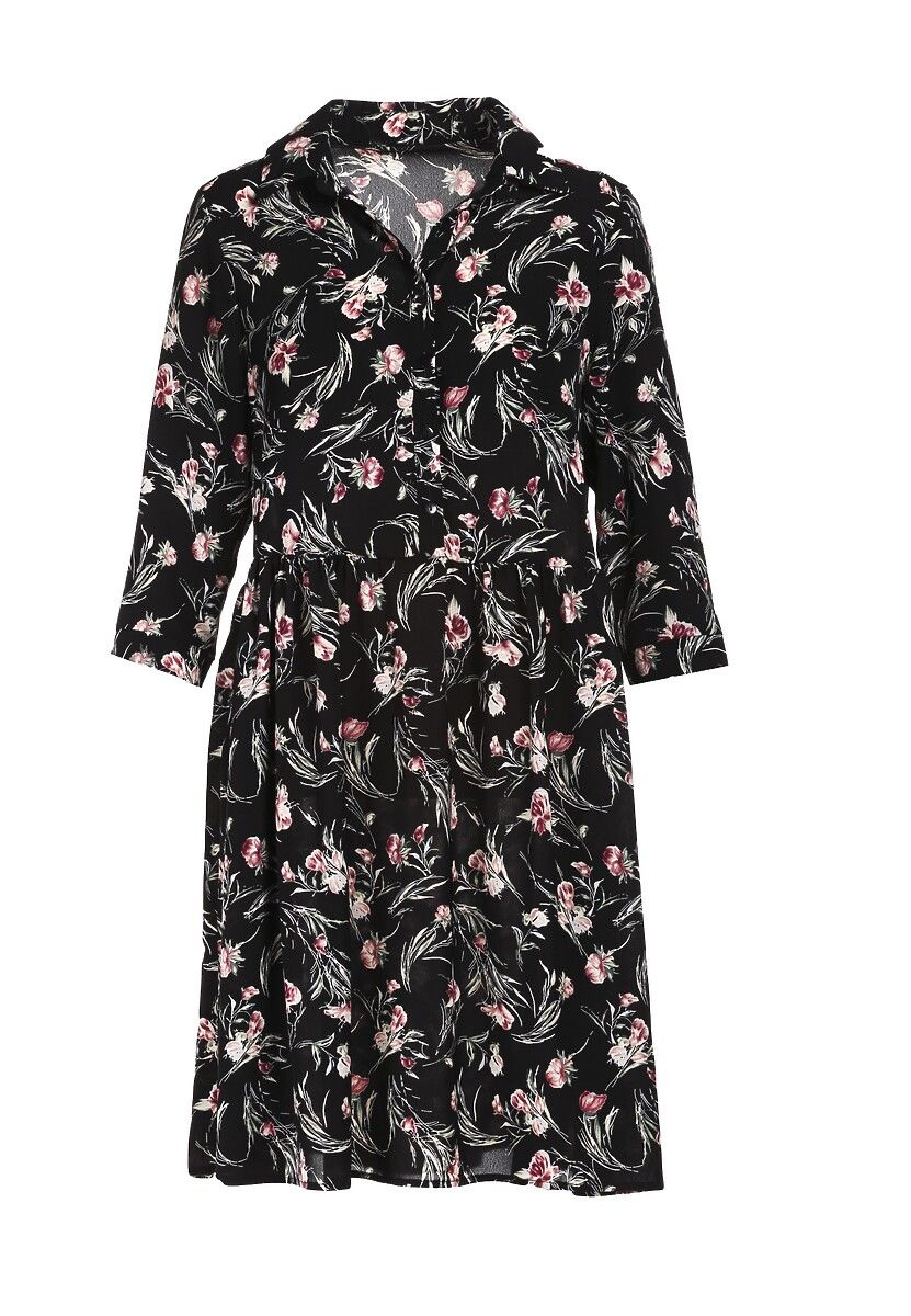 Czarno-Różowa Sukienka Amalisia