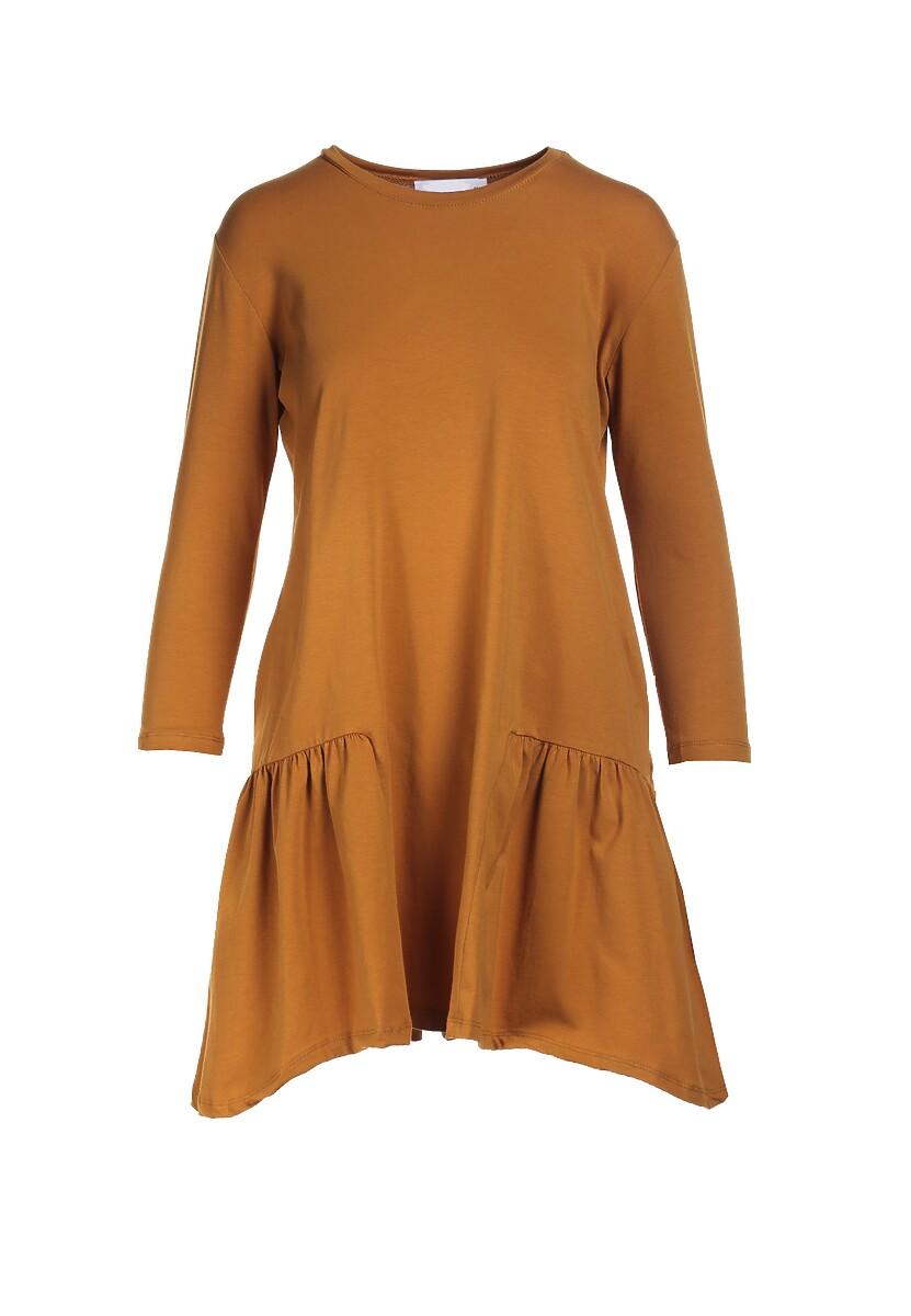 Camelowa Sukienka Calydora