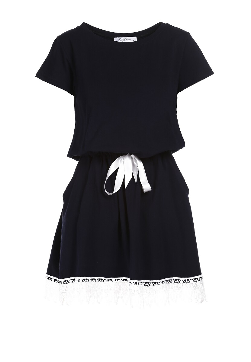 Granatowa Sukienka Chellei