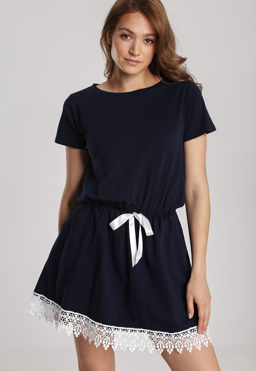 Granatowa Sukienka Chellei Kod produktu: 117302